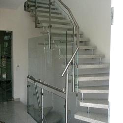 treppengel nder glas edelstahl gel nder f r au en. Black Bedroom Furniture Sets. Home Design Ideas